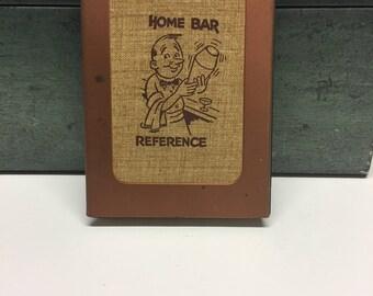 1960's Vintage Bar Manual, Home Bar Reference, Directory Manual,Bartender Mixed Drink Guide,Copper Metal Hinged, 50 Recipes, Vintage Barware