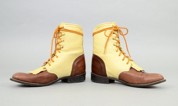 8 Leather Lace 5 up Boots US wxY8UR