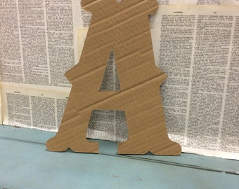 Large Recycled Cardboard Letters
