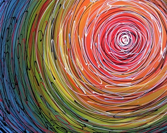 Abstract art print ... Vortex -- 8 x 10 Glossy Print, from my original painting