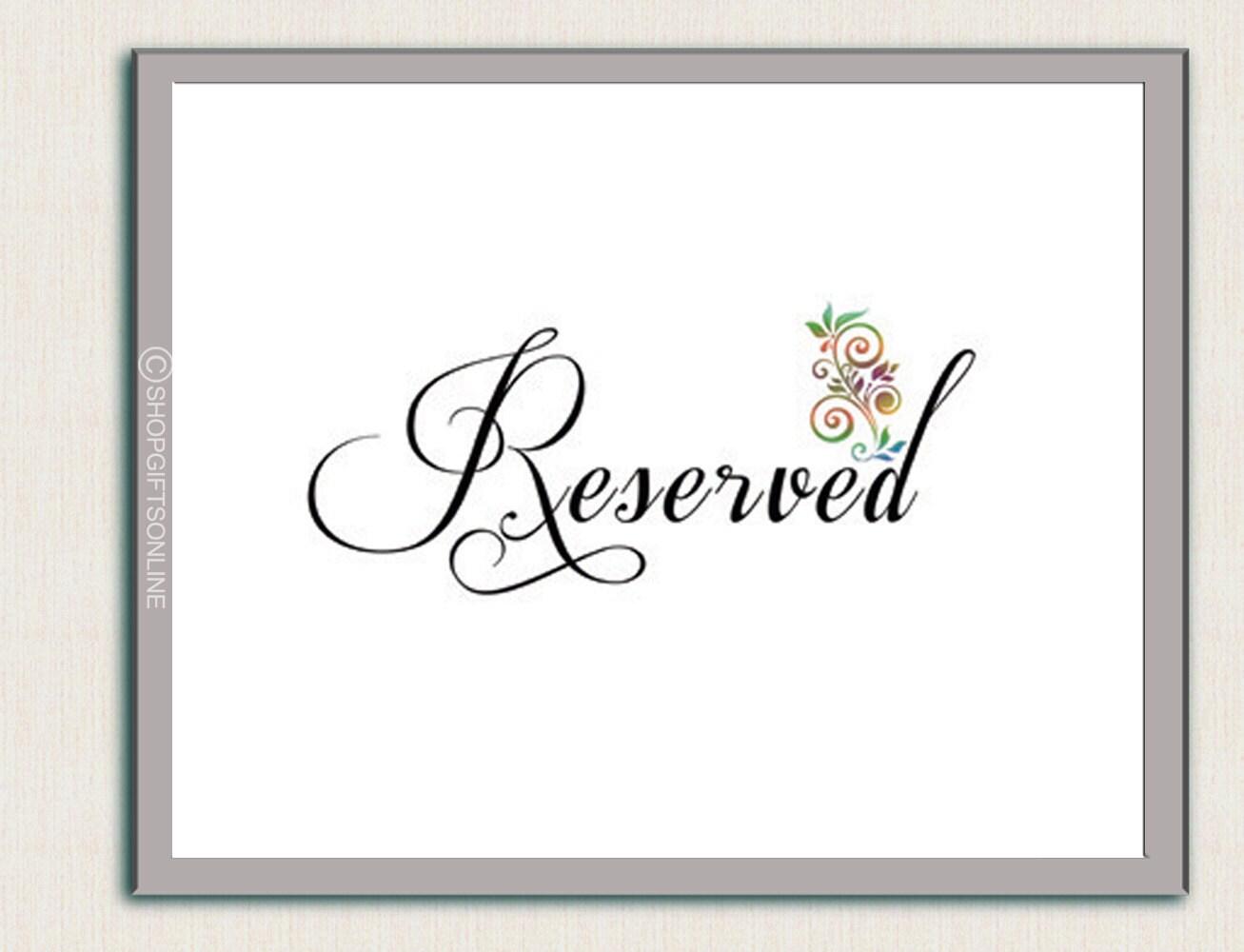 Boda mesa signo reservado mesa signo reservado mesa evento