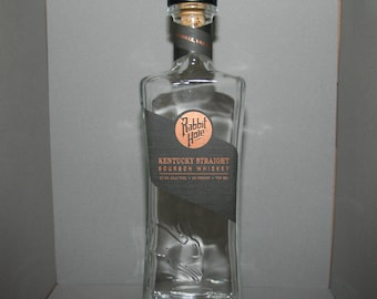 Rabbit Hole bourbon bottle - empty
