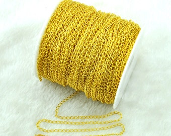 Gold Tone Extension Chain Curb Chain 3x5mm,DIY Accessory Jewelry Making--H0090
