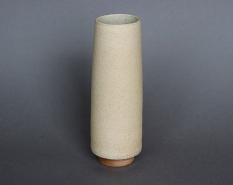 Tall Tapered Vase with Maple Base