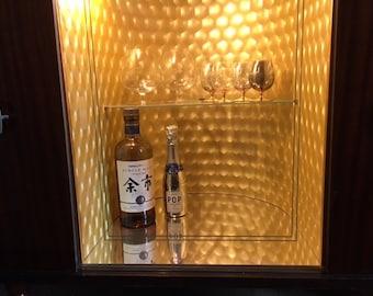 Bar lighted display cabinet