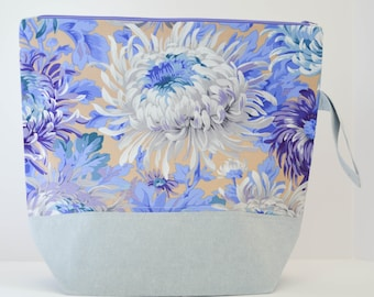 Blue Floral Extra Large Project Bag