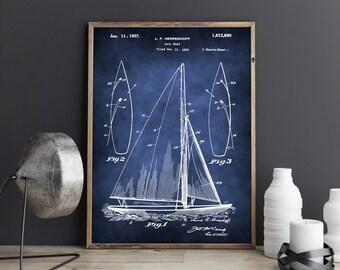 Sailing Ship Poster, Sailing Boat Patent, Sailing Boat Patent Print, Sailing Ship Print, Sailing Ship Art Print, Sailing Ship Patent Print