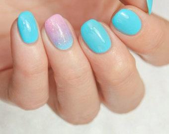 Whirlpool - Custom Galaxy Blue Creme Nail Polish