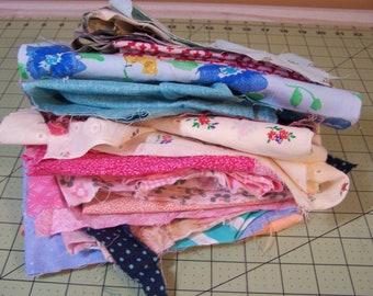 Pound of Fabric Scraps - Fabric Scraps - One Pound Plus - Scrap Fabrics
