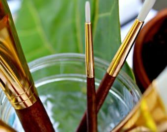 Vegan Paintbrush Set // Paint Brushes Set // Moth & Moon Art Supply // Taklon Brush // Vegan Gift // Gift for Artist