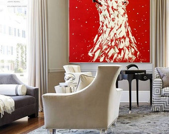 Polar Bear Painting Beautiful Large Animal Painting Canvas Handmade Made to Order Extremely Power Palette Knife Animal by Kathleen Artist