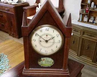 Vintage Wooden General Electric Cathedral Clock