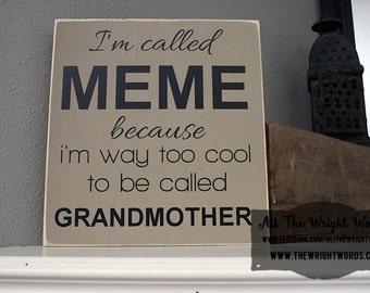 "12x12"" Grandmother Wood Sign - MIMI - MEME - Grandma - Mama - Nana - Yaya - Mother's Day - Gift Idea - Love - Family - Home - Home Decor -"