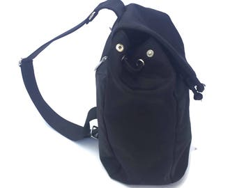 90's Black Nylon Backpack Purse