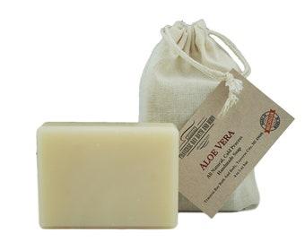 Aloe vera, all natural handmade soap, Cold process vegan soap