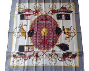 "Classic Hermes ""Les Voitures a Transformation"" Scarf"