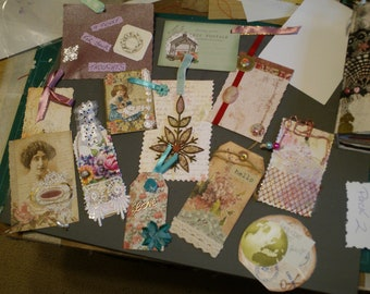 Junk journalling tags