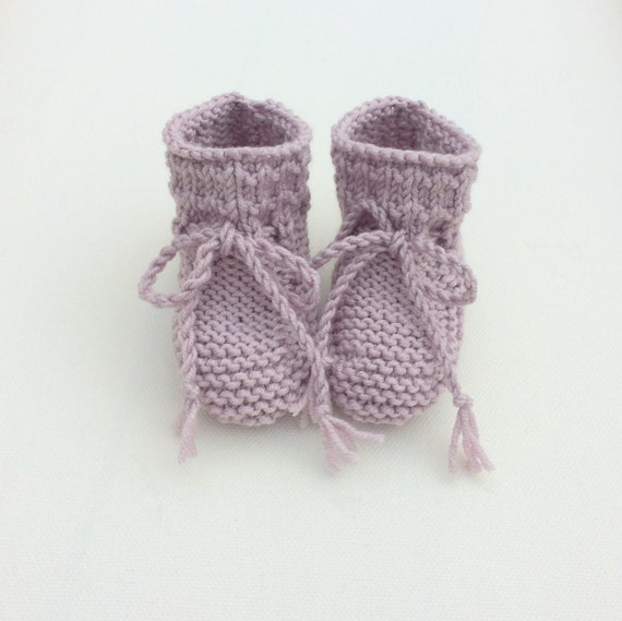 Willow Baby Booties in Dusky Pink - Made to Order