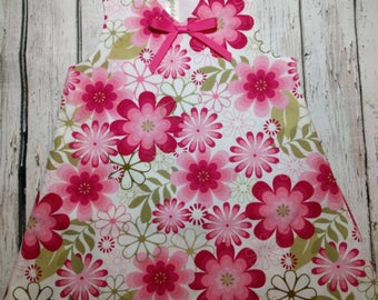 Floral Pinafore Dress, Girls Dress, Pinafore Dress, Summer Dress, Floral Dress, Girls Clothing