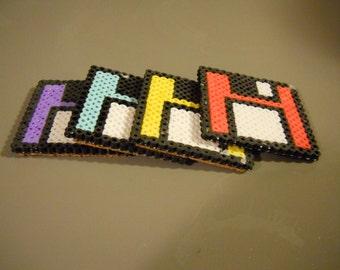 Set of 4 Floppy Disk 8-bit coaster set