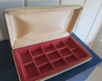 Beige Mele Brushed Velvet Travel Jewelry Box