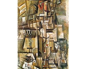 The Aficionado - Pablo Picasso Art - Circa 1912 - 1980 Vintage Book Page - Fine Art Print - Wall Decor -For Framing - 9 x 11