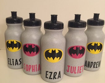 Personalized Kids Party Favor - Sport Bottles - Superman, Batman, Princess, Mermaid, Pirate, Anything