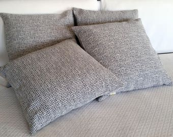 Grey tone on tone cushion cotton Furniture