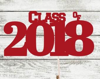 Class of 2018 / Custom Reunion Centerpiece / Graduation Centerpiece / High School Graduation / College Graduation Centerpiece