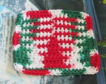 Hand crochet cotton dish cloth 6 by 6 cdc 097