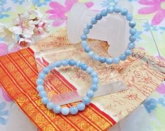 Natural aquamarine gemstone bracelet