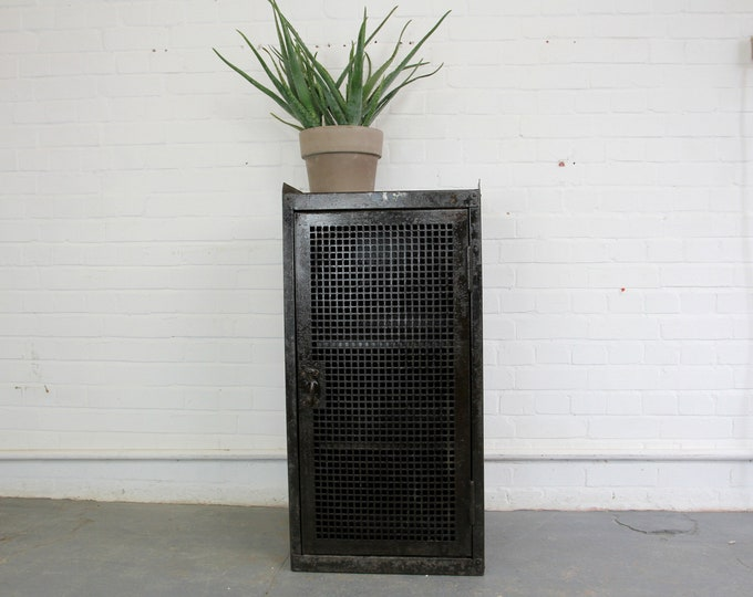 Industrial German Factory Cabinet In The Style Of Rowac Circa 1920s