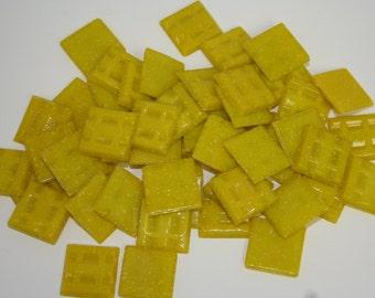 1/2 lb yellow 3/4 inch mosaic glass tiles