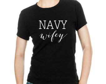 Navy Wifey T-shirt