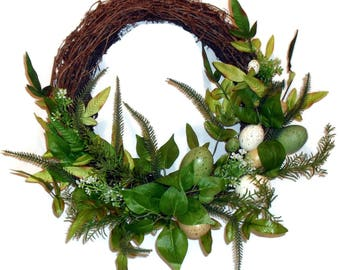 Wreath Handmade Spring Easter Wall Door Floral Decor