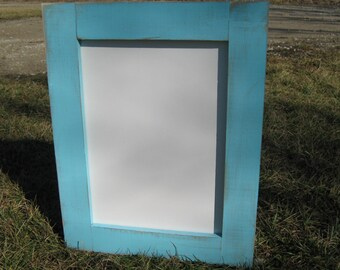 Rustic ocean blue dry erase board distressed light blue white board home organization whiteboard