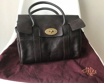 MOVING SALE: Mulberry Small Classic Bayswater in Chocolate Brown