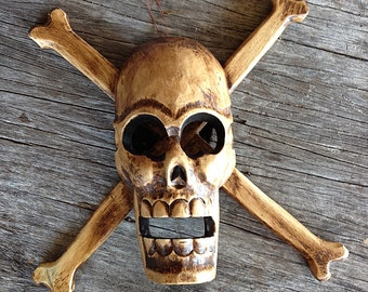 Jolly Roger Pirate Crossing Sign Skull and Crossbones Pirates sign decor by SEASTYLE