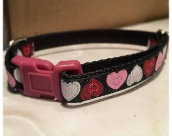 "1"" Patchwork Hearts Love Collar"