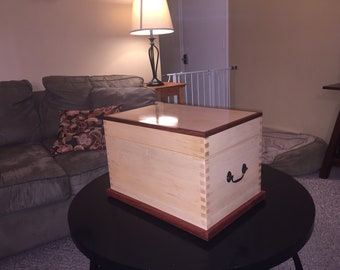 Solid hard maple Hope Chest