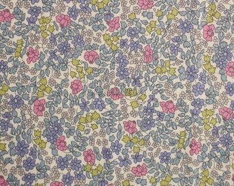 SALE - Liberty tana lawn printed in Japan - Emilia's flowers - Navy rose mix