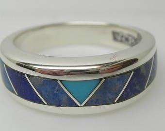 Womens Santa Fe style Silver Ring