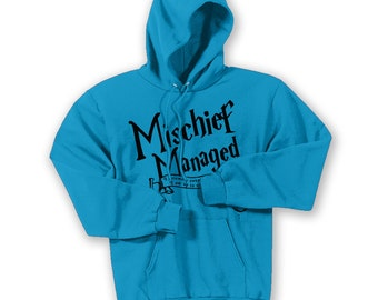 Mischief Managed Potter Hoodie with Custom Name ADULT