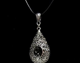 Bird Nest Pendant Necklace   Bird Nest Statement Jewelry