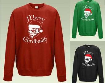 Mike Tyson Merry Chrithmith JH030 Funny Christmas Jumper Sweater