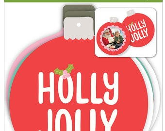 Ornaments - Holly Jolly Ornaments - Christmas Ornaments - Holly Jolly Christmas Ornaments - Holly Jolly Cardstock Ornaments - 2-070