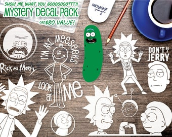 Rick and Morty GRAB BAG / Rick & Morty Inspired Vinyl Decals / Vinyl Stickers