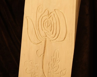 Rose with oak leaf and acorns-Wood Rune Board