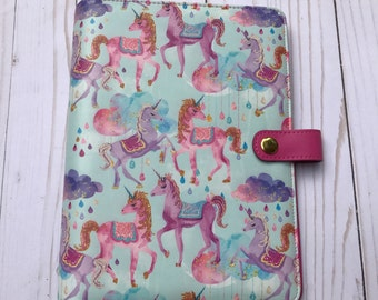 "Unicorn Planner, A5 Planner Binder, Personal Size Planner, Pink Unicorn Planner, Glitter Planner, Unicorn Binder, ""Unicorn Dreams"" SALE"