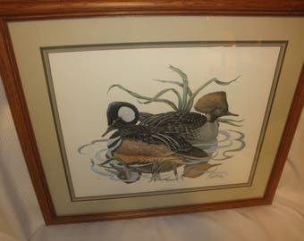 """Bill Wesling Print """"Just a Pair of Hoods"""" Signed and Certified Registery 1981"""